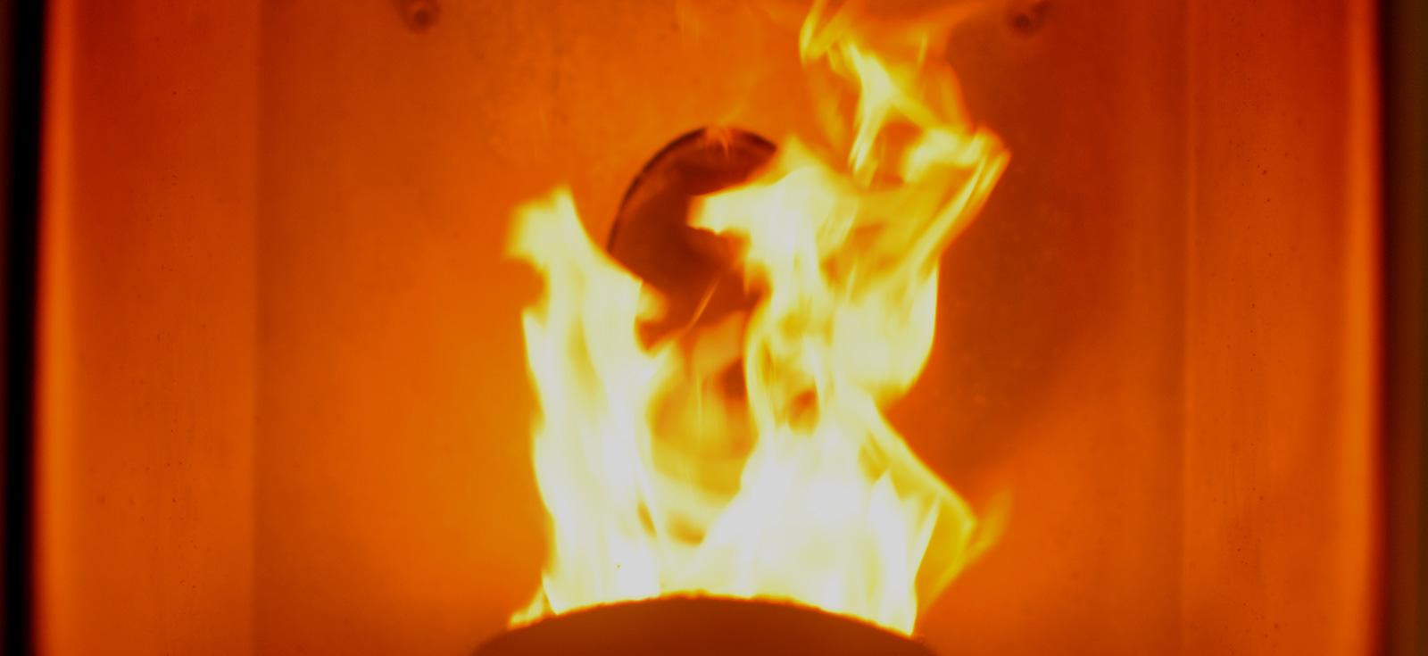 株式会社ライフガーデンのペレットストーブの炎